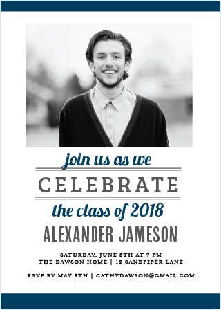 Show off your athleticism with the aptly named Athletics Graduation Announcement.