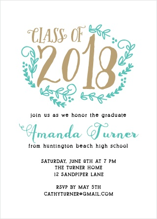 2018 graduation announcements invitations for high school and college this chic card is an elegant way to show off your style stopboris Gallery