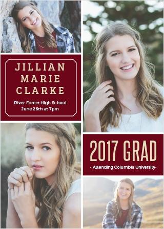 Multi Photo Graduation Announcement