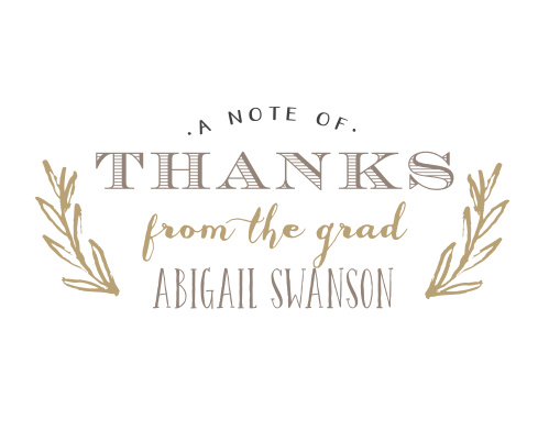 Traditional meeds hipster with this easy to customize, beautiful Sketched Thank You Cards. Hints of floral and fun with a classic graduation layout come together to make a great looking announcement. Customize the text and colors to match your unique style!