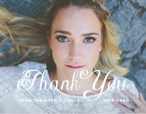 The simplicity of the Plain Elegance Thank You card is what makes it so graceful. Fill the card with your photo and set the text to be exactly what you want. Express your gratitude to all of those who have helped you in your journey!