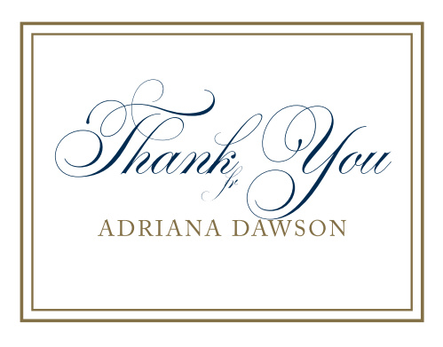 This chic and elegant Graduation Script Graduation Thank You Card is perfect to say thank you for the support that you have received over the years.