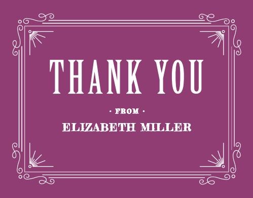 The Victorian Stripes Graduation Thank You Card makes for a beautiful and elegant way to express your thanks to all those who supported you throughout your journey. Customize the text, colors and fonts to show your personal style.