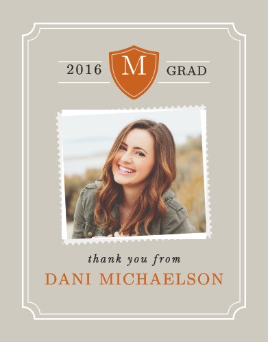 The College Colors Graduation thank you card is a great wait to announce your upcoming adventures. It's easy to customize this card by changing the colors to match your college colors or to match your personality.