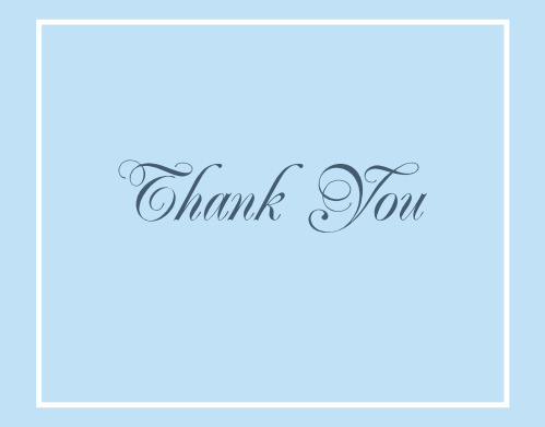 With its beautifully simple border the Traditional Lines graduation thank you card is a wonderful way to thank your friends and family for all of their support. Customize the colors and font to show your personality.
