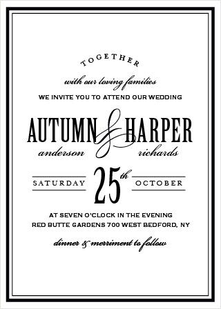 Antique Elegance Wedding Invitation