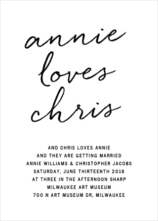 Simply chic is the best way to describe the Brush Script Wedding Invitations.