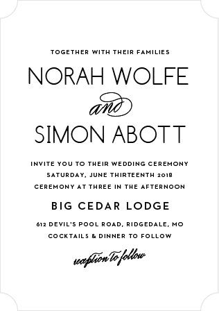 Deco Type Wedding Invitation