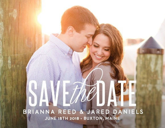 The Traditional Script Save The Date is a simple yet tasteful way to share your important information with your friends and family. Keep the focus on you with a perfect picture to show your guests your love. Customize the colors and font to fit your personality.