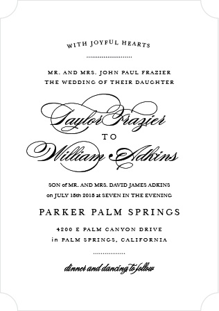 Timeless charm and graceful typography make the Elegant Vintage Wedding Invitations beautiful announcements with old world appeal.