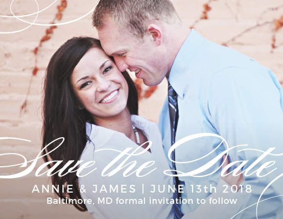 The Simplicity Save The Date is a graceful way to deliver your information to your loved ones. Make this card one of a kind by choosing your wedding colors, favorite fonts and your stunning picture.