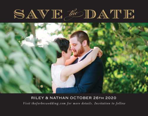 The Traditional Sophistication Save The Date is a excellent way to share your information with your loved ones. With its bold border, the focal point is on your gorgeous picture and elegant font. Customize this card to show off your character!