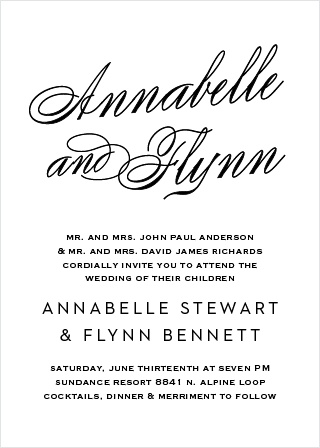 Leave an impression with the Statement Script Wedding Invitations.
