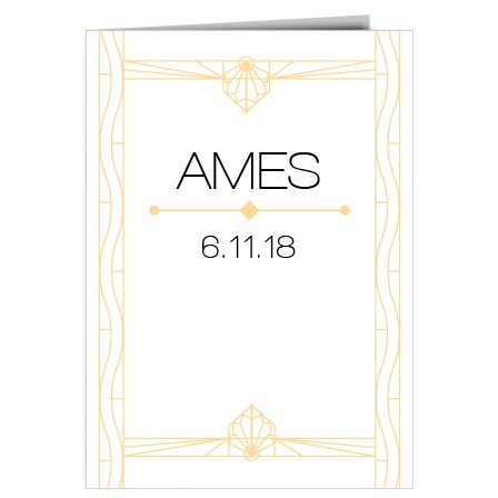 Ensure that your wedding goes smooth and stays organized with the Art Deco Wedding Program.