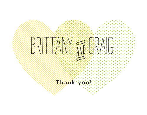 The Heart to Heart Thank You card is the perfect finishing touch to your wedding experience.