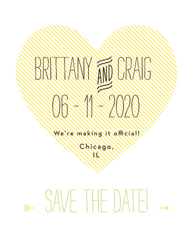 The Heart to Heart save-the-date magnets is part of the Love vs Design collection by Basic Invite.