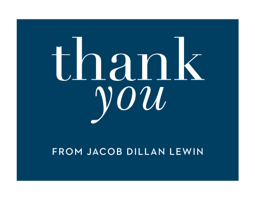 Wrap up your perfect Bar Mitzvah experience with the Bold Names Thank You cards. Designed to match the Bold Names Bar Mitzvah suite, these cards are customizable to match your theme. Your guests will never forget how put together your Bar Mitzvah was!
