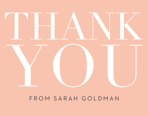 Wrap up your perfect Bat Mitzvah experience with the Formal Type Thank You cards. Express your gratitude to all your family and friends with a personalized Thank You card. Upload your photo and customize it to be your own!