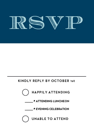 The Traditions Bar Mitzvah RSVP Cards are designed to perfectly match and compliment the similarly-named invitation suite. Match the colors fonts to your theme and get a headcount for your celebration!