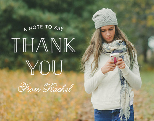 Wrap up your perfect Bat Mitzvah experience with the Photographic Thank You cards. Express your gratitude to all your family and friends with a personalized Thank You card.