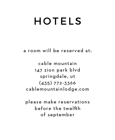 Give your guests the information they need to make their trip go smoothly. From booking hotels to travel information, you can add all of your details to this card! It's truly customizable and can be personalized to match your theme by changing the font, text and color!