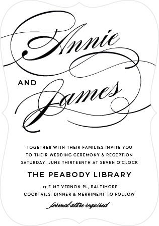 The Simplicity Wedding Invitations