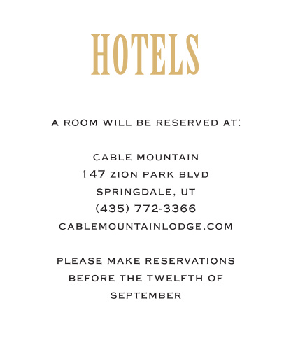 With its vintage feel the Antique Elegance accommodation card is the perfect addition to your wedding suite. Customize the font, text and colors to fit your needs!