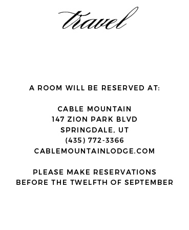 Pick a beautiful accommodation card to go with the rest of your invitation design. It's totally customizable so you an add a pop or color or keep it simple. It's up to you!