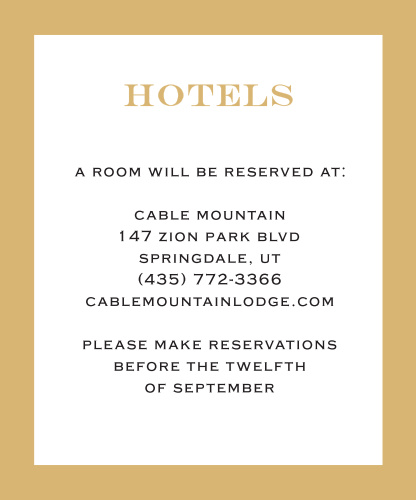 Give your guests the information they need to make their trip perfect. From travel information to sight seeing tips, you can add all of your details to this card! It's customizable and can be personalized to match your theme by changing the font, text and color!
