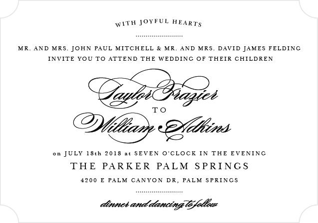 Elegant Vintage Landscape Wedding Invitation