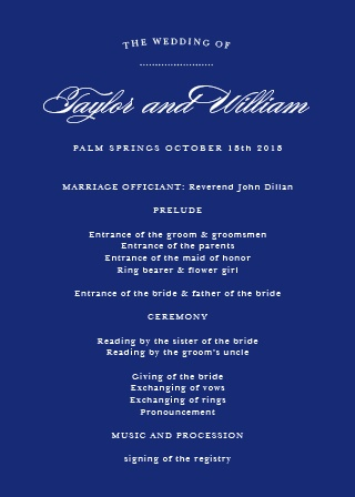 Elegance is a requirement for any wedding, so make sure you organize your wedding with the Elegant Vintage Wedding Program!
