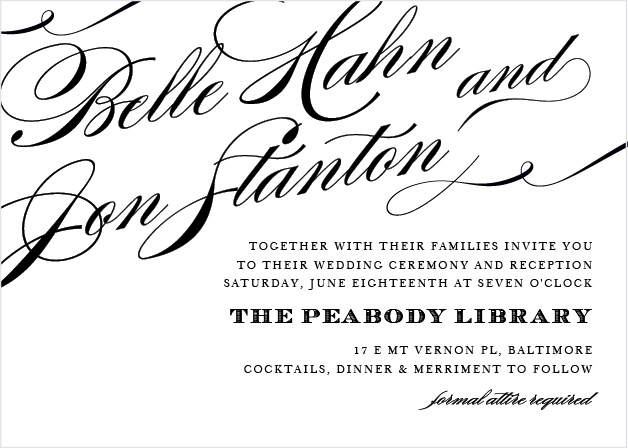 What better way to announce your amour to the world than with the Cheri Wedding Invitations.