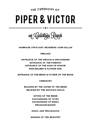 If you want everything to go right at your wedding like a perfect play, then the Playbill Wedding Program is just for you!