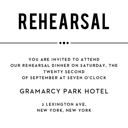 Send out personalized invitations to the grand even of your wedding ceremony with the Playbill Ceremony cards.