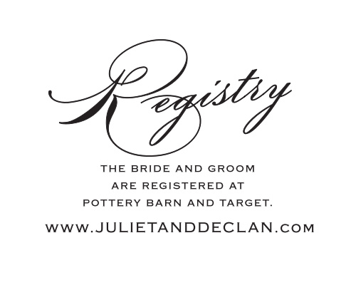 As is tradition, your guests will get you a gift for your wedding and it is extremely helpful to know where the bride and groom are registered.