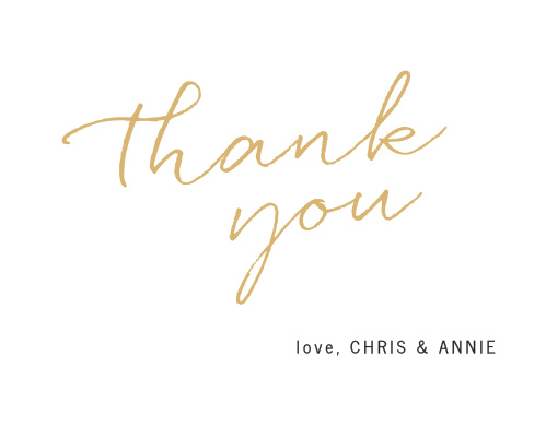 Wedding thank you cards wedding thank you notes by basic invite brush script thank you cards m4hsunfo