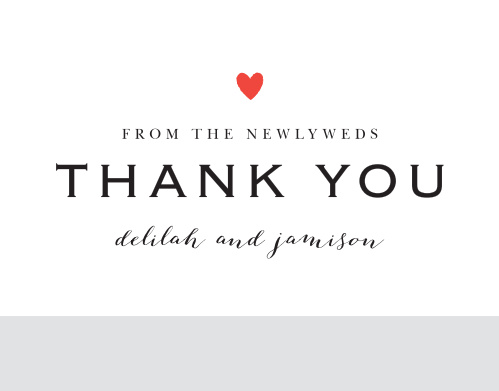 The Script Heart Thank You Card is the perfect way to say thanks to your loved ones.Customize the colors, text and font to reflect your style!