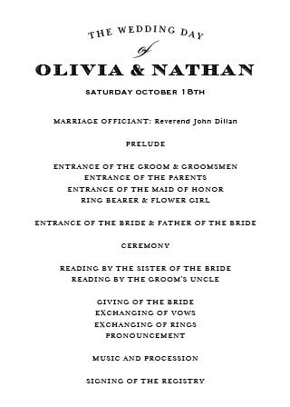 You and your guests will appreciate having your special day planned with the Traditional Sophistication Wedding Programs. Also, with over 150 font and color options to choose from, it's easy to make these programs reflect your unique personality.