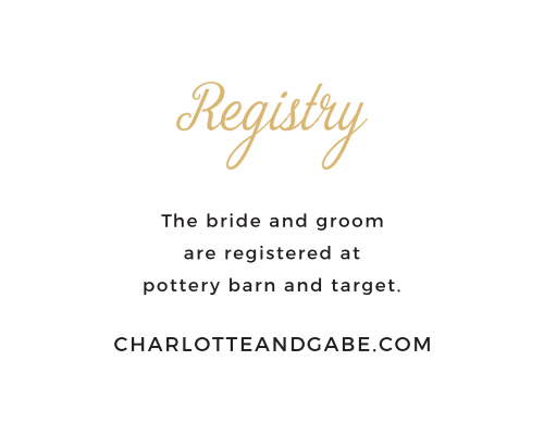Customize the modern typographic design of the Script Emblem Registry Cards with colors and fonts that coordinate with your event.