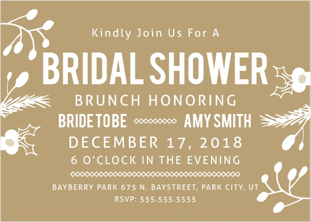 Stay classy with the falling in Love Brunch Bridal Shower invitation. Change the colors, fonts and even the pattern, in order to make this invite stand out among all the rest!