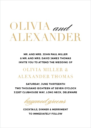The Typography Foil Wedding Invitations are a beautiful and contemporary way to announce your upcoming event to friends and family.
