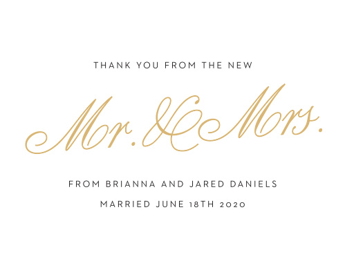 Nothing tells your guests you love them better than a meaningful thank you card. Include your name, customize the fonts, and change the colors to make it yours!