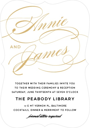 Luxury and refinement marry in the Simplicity Foil Wedding Invitations.