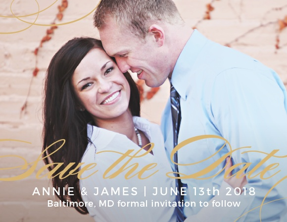 The Simplicity Foil Save The Date is a graceful way to deliver your information to your loved ones. Make this card one of a kind by choosing your wedding colors, favorite fonts and your stunning picture.