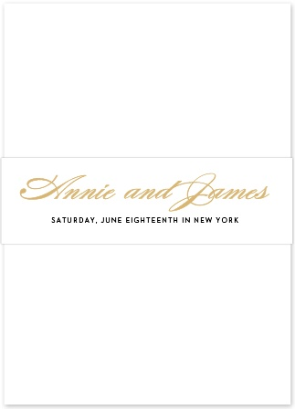 Wedding Invitation Belly Bands by Basic Invite