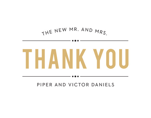 The end of every theatre performance has a grand thank you to the guests so make sure your thank you is just as great at the end of your wedding day!