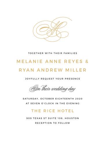 Typography Wedding Invitations Basic Invite Black Tie Collection