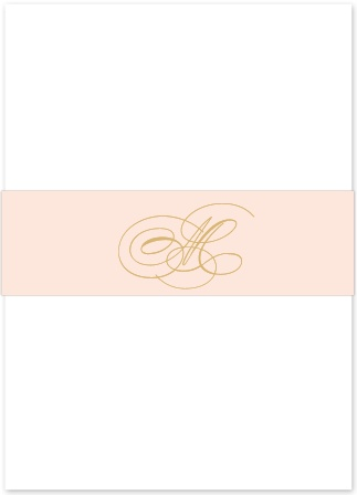 The Charmed Monogram Foil Belly Band is an elegant way to complete your wedding suite. Customize the color and the monogram to show off your new name!