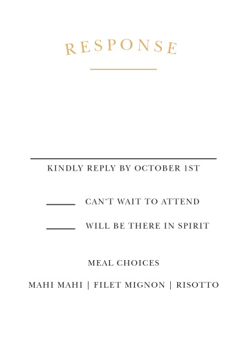 Wedding rsvp cards match your color style free basic invite elegant vintage foil response cards stopboris Choice Image