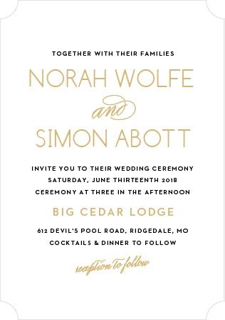 Deco Type Foil Wedding Invitation